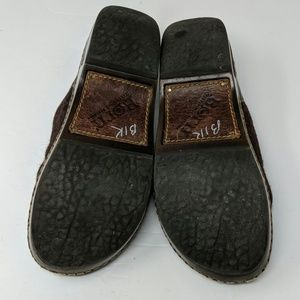 Born Shoes - Born Brown Leather Wool Mules Clogs Size 7